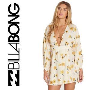 🌼Billabong Plunge-V Neck Summer Dress